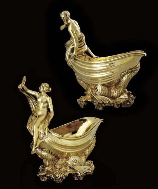 A FINE PAIR OF GEORGE IV SILVE