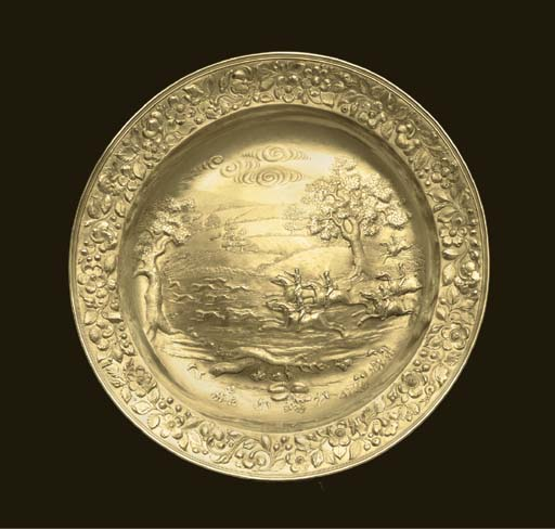A WILLIAM IV SILVER-GILT SIDEB