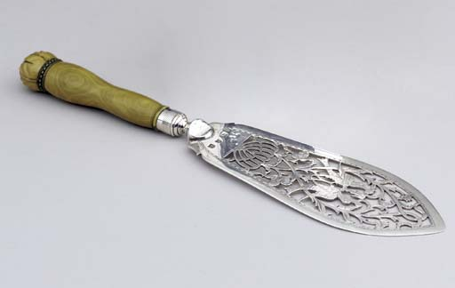 A GEORGE III SILVER AND IVORY