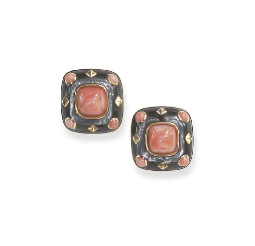 **A PAIR OF MOTHER-OF-PEARL, C