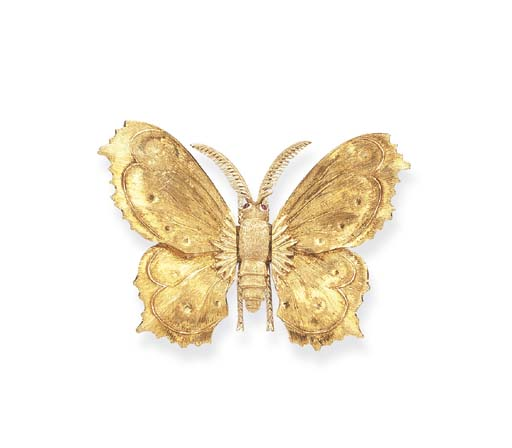 A GOLD BROOCH, BY MARIO BUCCEL