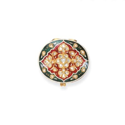 AN INDIAN DIAMOND AND ENAMEL C