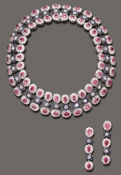 A SUITE OF SAPPHIRE, PINK SAPP