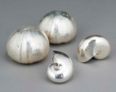 A SET OF FIVE STERLING SILVER-