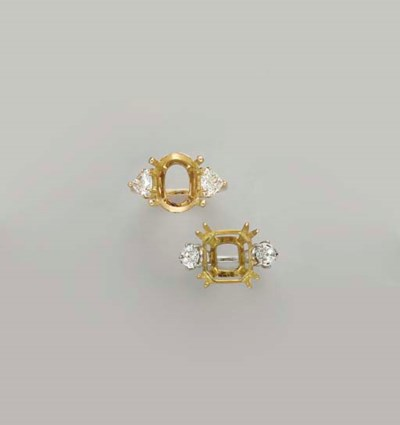 TWO PLATINUM, GOLD AND DIAMOND