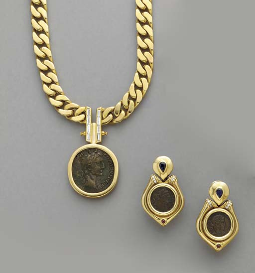 A GROUP OF 18K GOLD, COIN AND