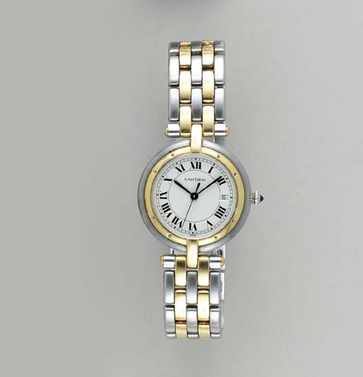 A STEEL AND 18K GOLD WRISTWATC