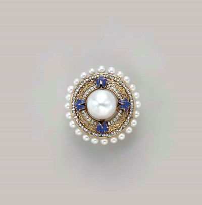AN ANTIQUE CULTURED PEARL, PEA