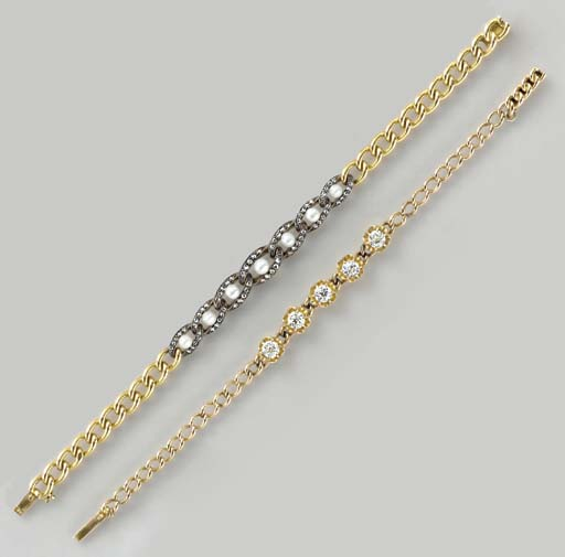 TWO DIAMOND, CULTURED PEARL, G