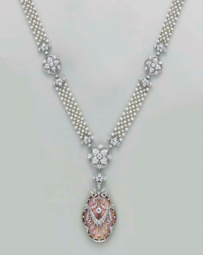A BELLE EPOQUE SEED PEARL, DIA