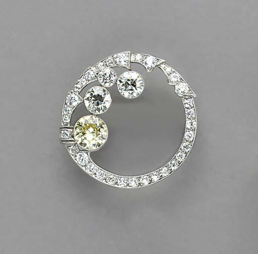 A COLORED DIAMOND, DIAMOND, PL