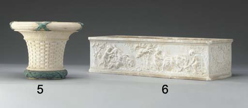 An Italian white marble rectan