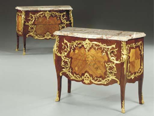 A near pair of Louis XV style