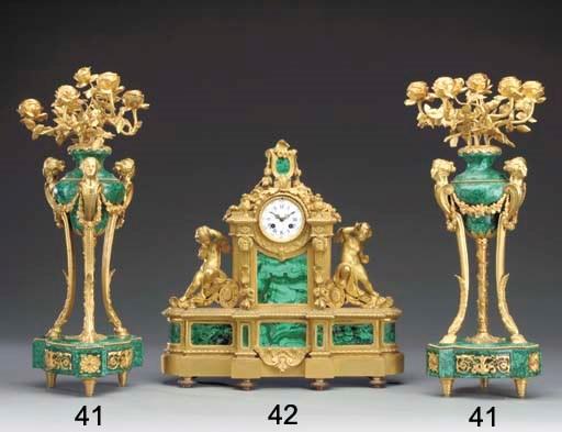 A Napoleon III ormolu and mala