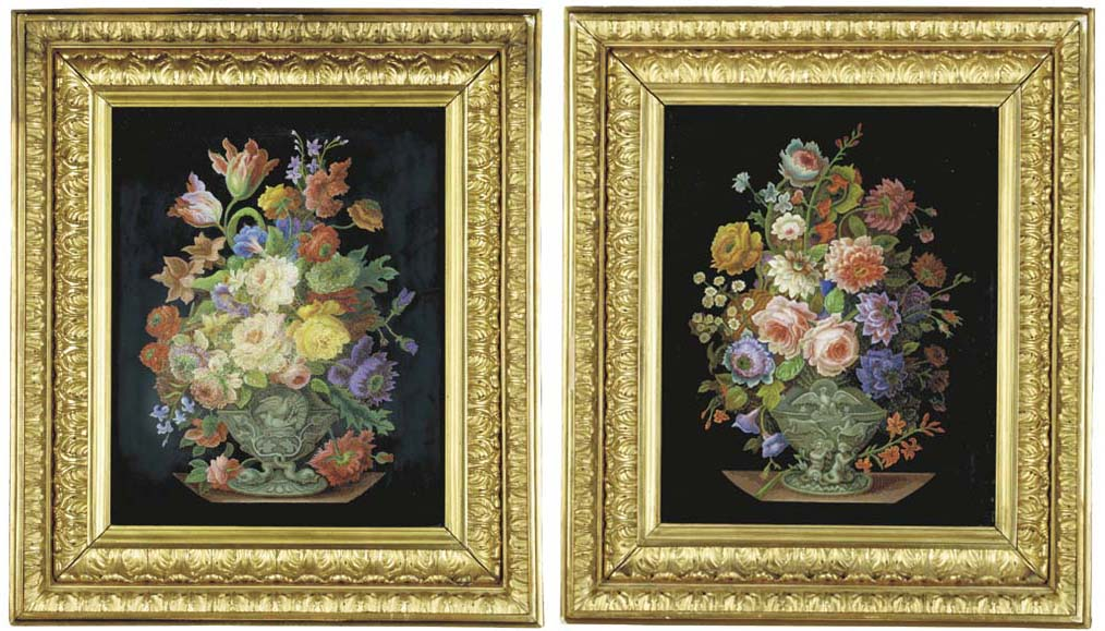 A pair of fine framed Roman mi