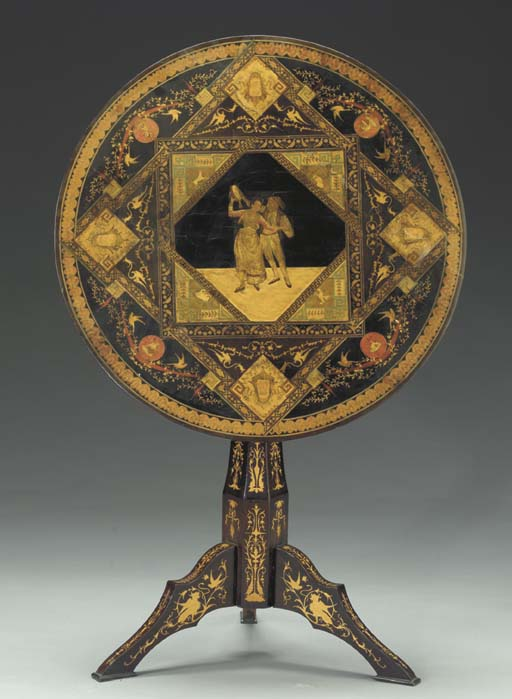 A Sorrento marquetry, stained-
