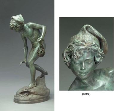 A life-size Italian bronze fig