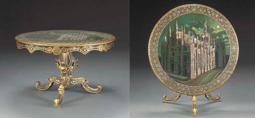 A Victorian parcel-gilt, japan