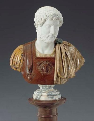 An Italian marble bust of Marc