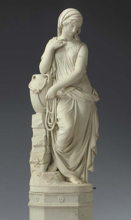 A German white marble figure o
