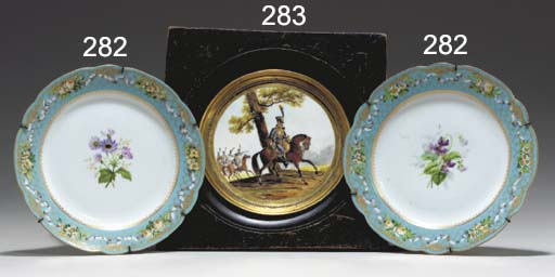 TWO IMPERIAL PORCELAIN PALE-BL