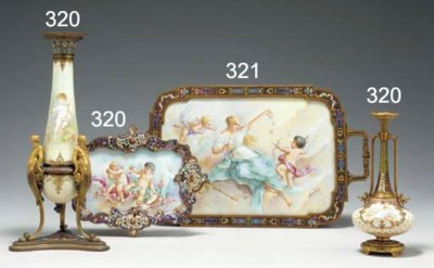 A SEVRES STYLE PORCELAIN AND C
