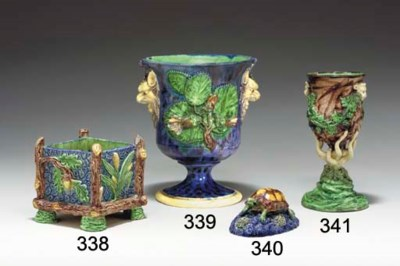 A FRENCH PALISSY STYLED GOBLET