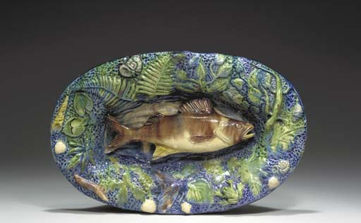 A FRENCH PALISSY WARE TROMPE L