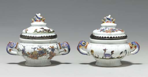 TWO SILVER-MOUNTED MEISSEN KAK