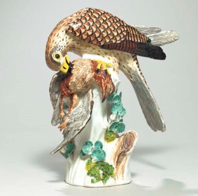 A MEISSEN MODEL OF A SPARROW H