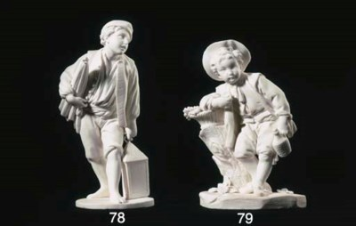 A SEVRES BISCUIT FIGURE: PORTE