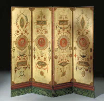 A FRENCH POLYCHROME-DECORATED