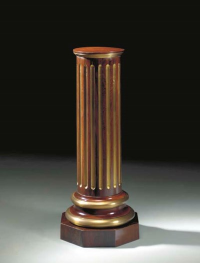 A BRASS-MOUNTED MAHOGANY AND R