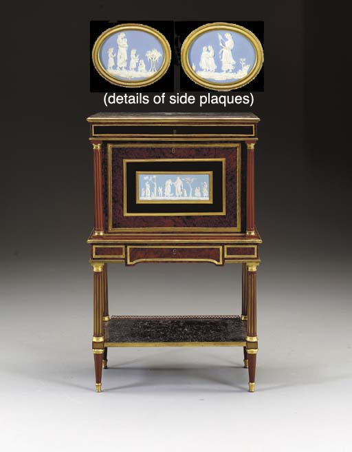 A LOUIS XVI ORMOLU-MOUNTED AND