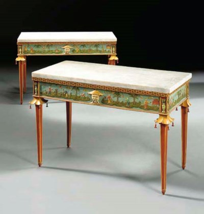 A PAIR OF ITALIAN POLYCHROME-D