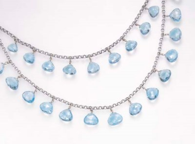 A BLUE TOPAZ NECKLACE