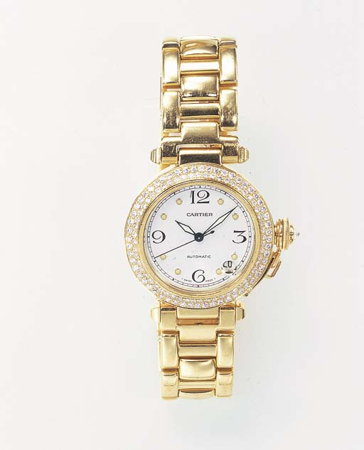A DIAMOND AND GOLD AUTOMATIC