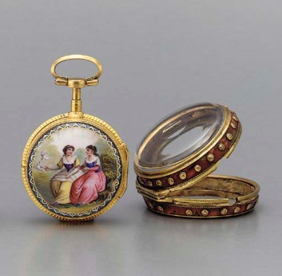 Coulin. A silver-gilt and enam