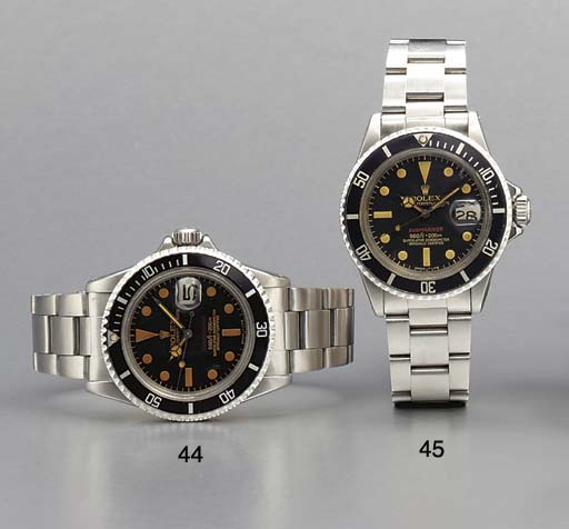 Rolex. A stainless steel self-winding water-resistant wristwatch with sweep center seconds, date and bracelet