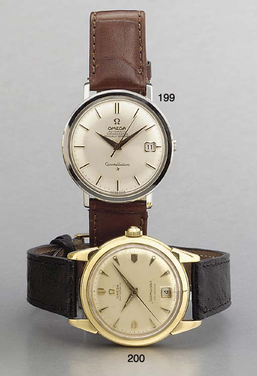 Omega. Two stainless steel sel