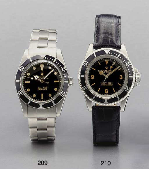 Rolex. A stainless steel self-winding water-resistant wristwatch with sweep center seconds