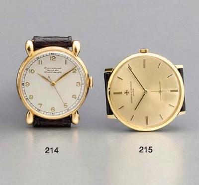 IWC. An 18K pink gold wristwat