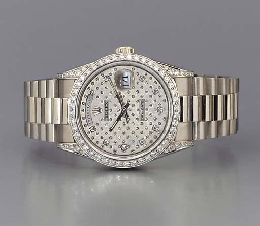 Rolex. A fine 18K white gold a