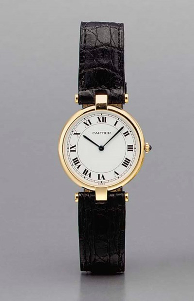 Cartier. An 18K gold wristwatc
