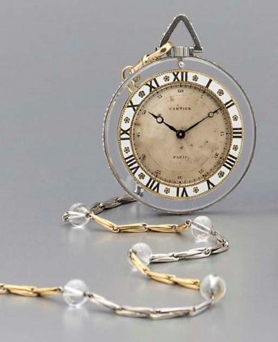 Cartier. A fine and rare plati