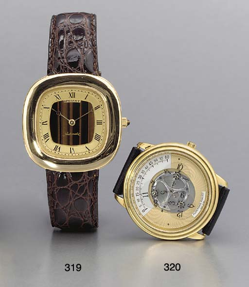 Breguet. An 18K gold and tiger