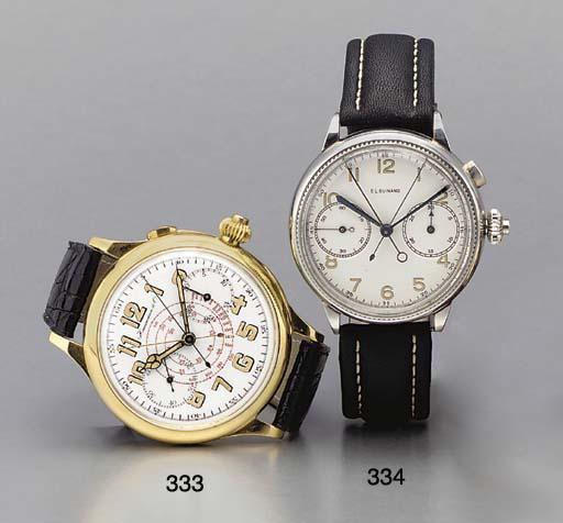 C.L.Guinand. An oversized steel split-second wristwatch