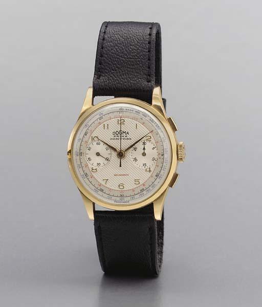 Dogma. An 18K pink gold chrono