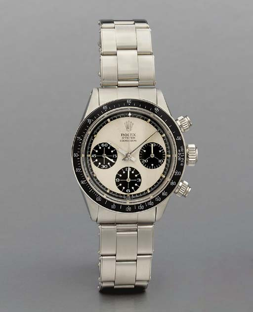 Rolex. A fine and rare stainless steel water-resistant chronograph wristwatch with bracelet