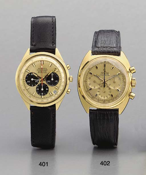 Zenith. An 18K gold self-windi